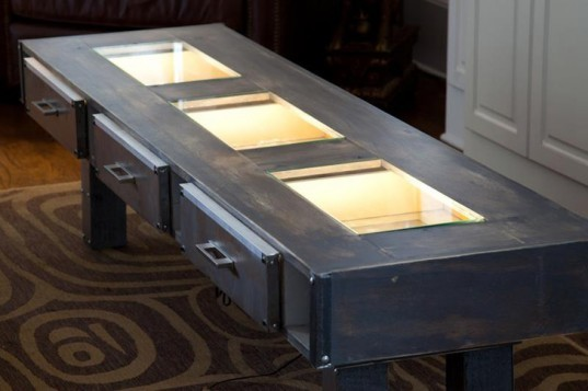 Led Lighting, Steel Table, Coffee Table, Mike Carpenter, MDC Interiors