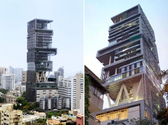 green design, eco design, sustainable design, Mumbai, Mukesh Ambani, $1 billion house, Vastu Shastra, Antilia, Perkins+ Will, Hirsch Bedner Associates