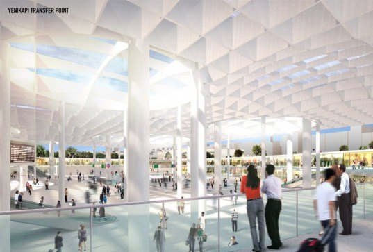 MVRDV architects, aboutblank design, transit hub, archeological remains, yenikapi istanbul