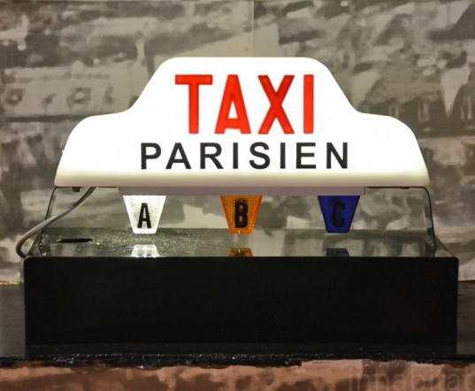 Recycled Taxi Lamps, Off Duty No More, wanted design, new york design week, ny design week 2012, green design, sustainable design, green furniture, green interiors, green products, sustainable products, eco design