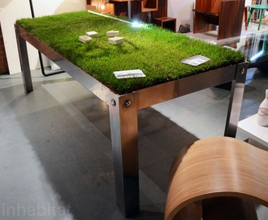 picNYC Grass Table, Haiko Cornelissen, wanted design, new york design week, ny design week 2012, green design, sustainable design, green furniture, green interiors, green products, sustainable products, eco design
