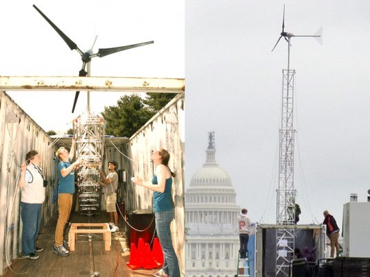 Wind Turbine, Shipping Container, Princeton University, Environmental Protection Agency, Solar Power