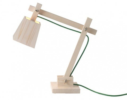 TAF Architects Wood Lamp, green lamp, sustainable lamp, led bulb, led lamp, low-energy lighting, sustainable design, green design
