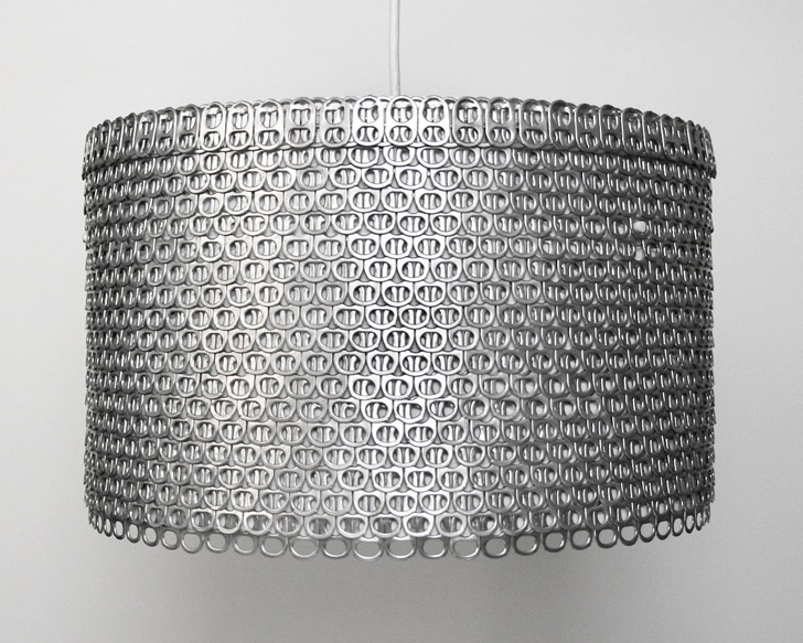 eco friendly lighting fixtures. allison patrick transforms hundreds of soda can tabs into gorgeous glowing lampshades eco friendly lighting fixtures
