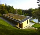 Green-Roofed +House is a Tranquil Woodland Home in Beautiful Ontario