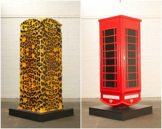 BT artbox, British telecom, childline charity, english telephone boxes, public artwork, public art london, auction art, green artwork