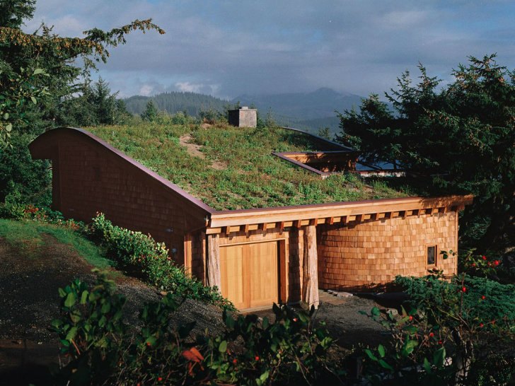 Green Roofed Cannon Beach Home In Oregon Generates More Energy