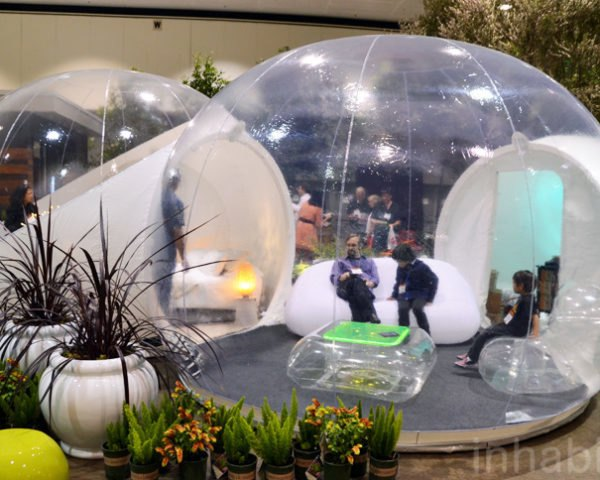 Casa Bubble, Eco Tourism, Sustainable Structures, Recyclable PVC, Sustainable Fabric, Temporary Structures, Dwell on Design, Inhabitat, Inhabitat LA, Inhabitat Los Angeles, Frederic Richard, Pierre-Stephane Dumas