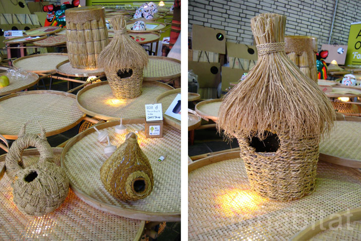 Taiwan Dhh Studio S Rice Straw Bird Feeders 171 Inhabitat