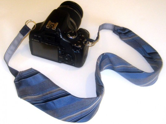 Necktie Camera Strap, DIY Father's Day Gifts, diy gifts, diy gifts for dad, green gifts for dad, green father's day gifts, eco friendly father's day gifts, diy gift ideas, make it yourself gifts, recycled gifts, green gifts, last minute fathers day gifts, fathers day gifts