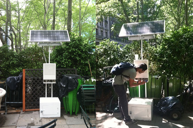 Solar Powered Cell Phone Charging Station Pops Up In New