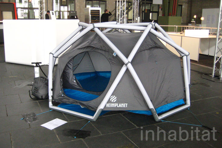 Heimplanetu0027s Inflatable Geodesic Dome Tent Sets Up in a Snap! | Inhabitat - Green Design Innovation Architecture Green Building & Heimplanetu0027s Inflatable Geodesic Dome Tent Sets Up in a Snap ...