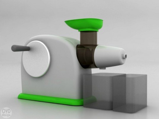 Izzy Juicer, OYD Design, people-powered, hand crank juicer