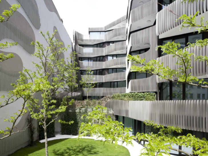 J Mayer H Just Completed Joh3 A Residential Building That Reinterprets The Clic Berliner Apartment And Updates It With Modern Striated