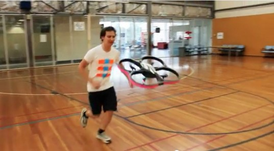 joggobot, exercise robot, robotics, drone, robotic running companion, The Exertion Games Lab, RMIT University