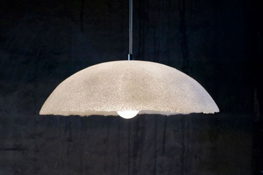 Justyna Poplawska, lamp, recycled glass, luna, polish design, Danish Design School, Green Lighting, Recycled Materials, Green Materials,