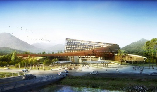 Haeahn Architecture, Korea Hydro Nuclear Power Company, nuclear power, architecture, green roof, solar energy, sustainable development, green design, sustainable design, eco-design, Gyeongju, daylighting, solar-orientation