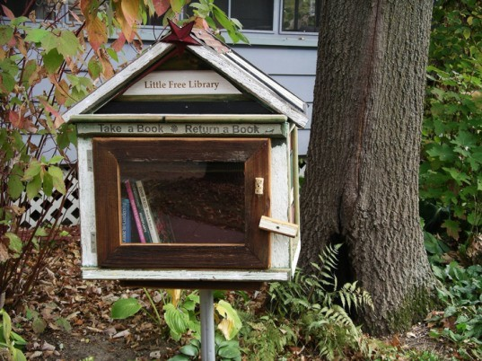 green design, eco design, sustainable design, mobile library, pop up library, DIY library, Little Free Library, literacy