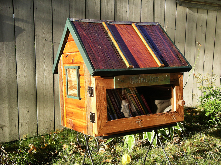 Little Free Library Tiny House Shaped Boxes Let You Take