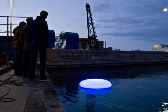 Urbanbotics, ORBs, Copenhagen Harbour, urban lighting, urban lights, lights, green lights, Danish Urbanbotics, urban ORBs