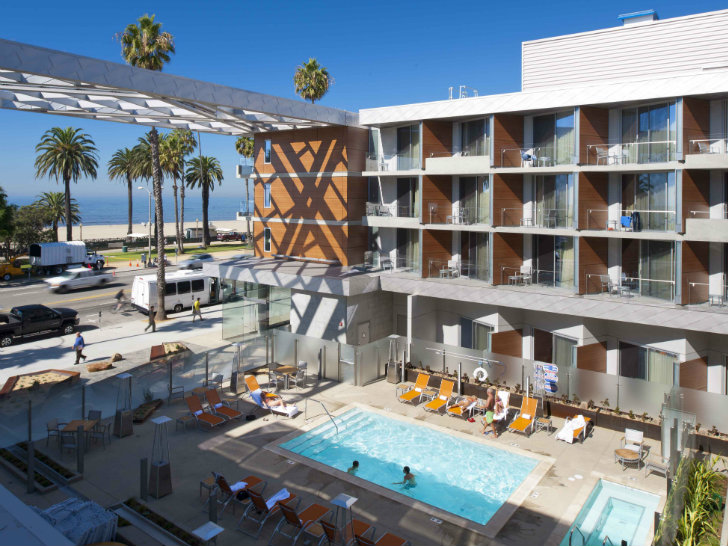 Gensler S Hotel Is A Leed Gold Beach Retreat In Santa Monica Inhabitat Green Design Innovation Architecture Building