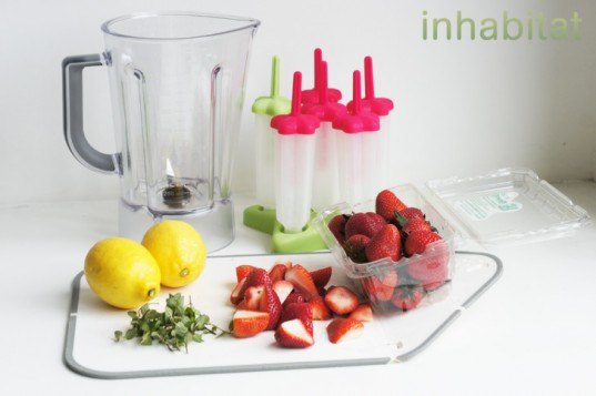 Strawberry Pop Ingredients, popsicle ingredients, fresh fruits, how to make popsicles, what you need to make popsicles, popsicle recipes