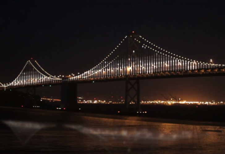 san francisco s bay bridge to be lit up with massive led