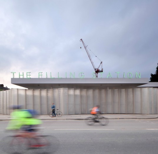 Carmody Groarke, Luke Hayes, filling station, kings cross, renovated gas station, regents canal, adapted space, recycled buildings, sustainable design, green renovations