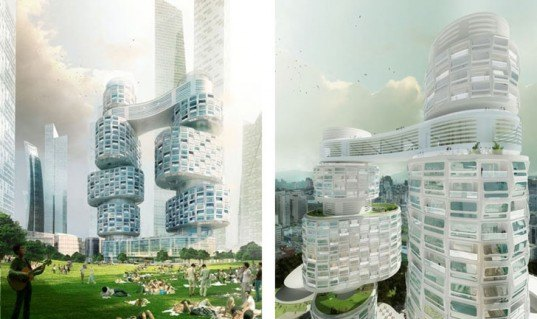 Velo Towers, Asymptote Architecture, Seoul, Yongsan Business District, South Korea