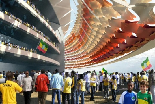 LAVA, Laboratory for Visionary Architecture, Ethiopia, Addis Ababa, football, soccer, football stadium, world cup, intelligent membrane