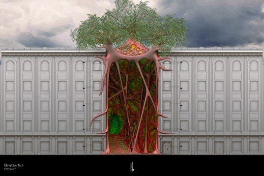 Studio Bijan H, Studio Bijan H's Being Nature, Being Nature, Sci-Arc Thesis, Treehouses, using trees in architecture, tree architecture, treehouse design, urban treehouse