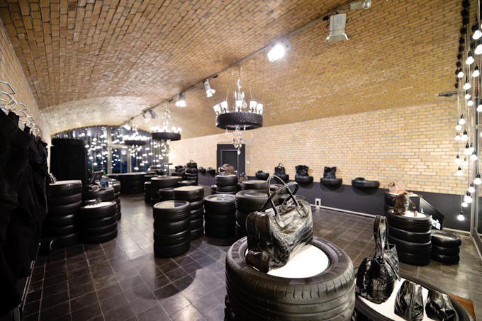 Dom In Berlin Reuses Car Tires To Create A Stylish