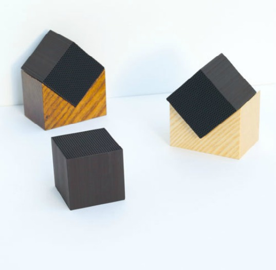Satoshi Umeno, Chikuno Cube + House, charcoal purifier, natural deodorizer, sustainable design, natural design, green gadgets, interior design, household items