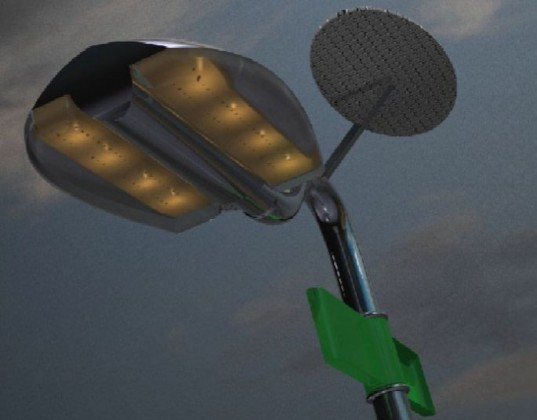 holonic streetlamp, solar streetlight, street light, wind power, off-grid streetlight,