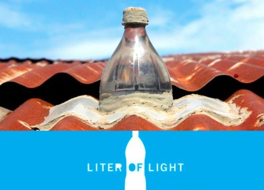 """A liter of Light"", eco design, green design, green lighting, Isang Litrong Liwanga, MIT, My Shelter Foundaiton, Philippines, Recycled Materials, social design, solar bottle bulbs, sustainable design, ""A liter of Light"", appropriate technology, eco design, green design, green lighting, humanitarian design, Isang Litrong Liwanag, MIT, phillipines, sustainable design, bottle lights, illac diaz"