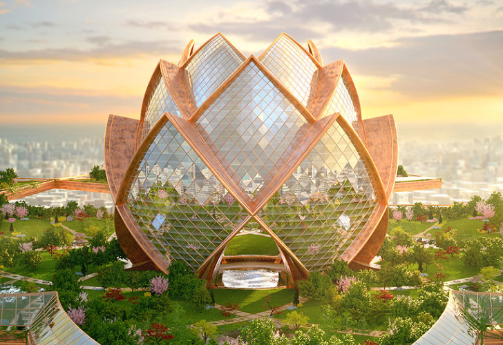 City in the Sky: Futuristic Flower Towers Soar Above ...