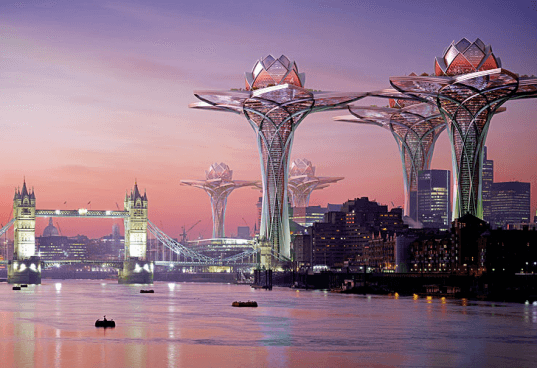 City in the Sky, Hrama, Megatropolis, London, New York City, urban parks, invasive species, London Tower bridge