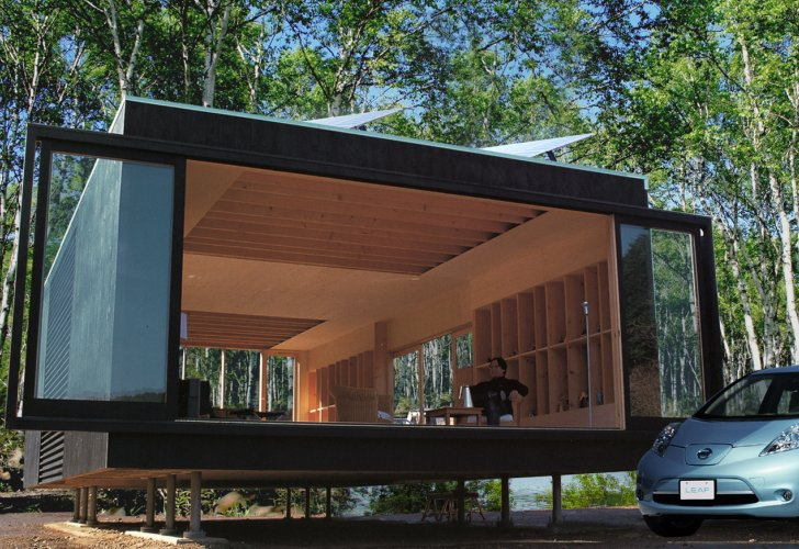 High Tech Off Grid Mirai Nihon Home Coexists With Nature in Japan