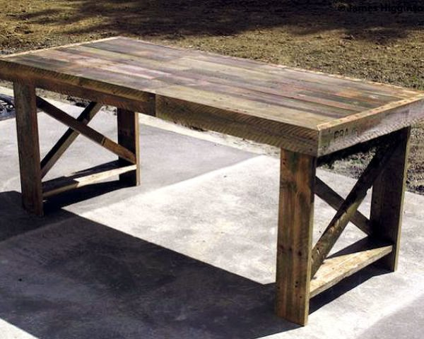 shipping pallet dining table, pallet table, shipping pallet ideas, shipping pallet table, james higginson, shipping pallet designs, recycled shipping pallets