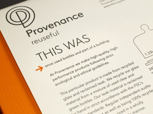 provenance packaging, green housewares, recycled materials, homeware, green products, sustainable design, green design, green packaging, sustainable packaging