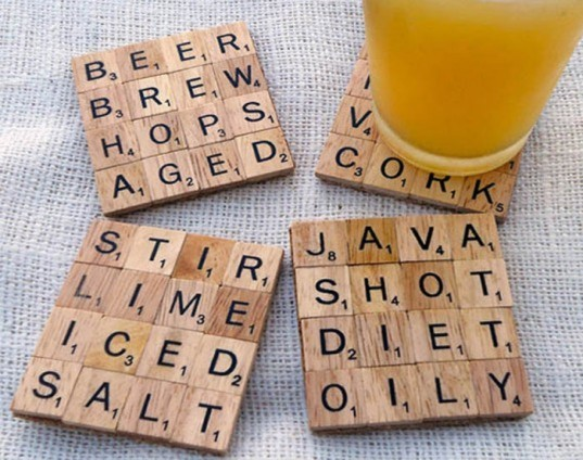 Scrabble Coasters, DIY Father's Day Gifts, diy gifts, diy gifts for dad, green gifts for dad, green father's day gifts, eco friendly father's day gifts, diy gift ideas, make it yourself gifts, recycled gifts, green gifts, last minute fathers day gifts, fathers day gifts