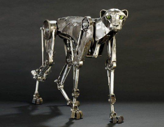 steampunk design, steampunk sculpture, eco sculpture, recycled material sculptures, metal sculptures, animal sculptures, andrew chase, photographer, andrew chase sculptor,