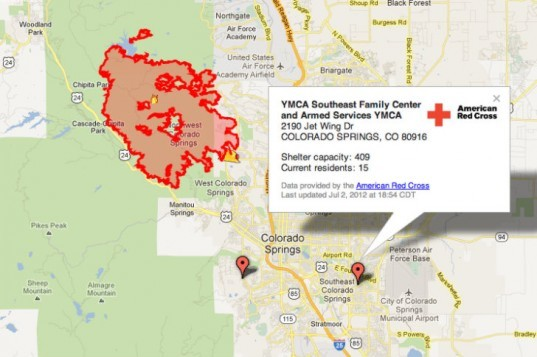 2012 US Wildfires, Google Crisis Response, google crisis map, wildfires, western wildfires, interactive map