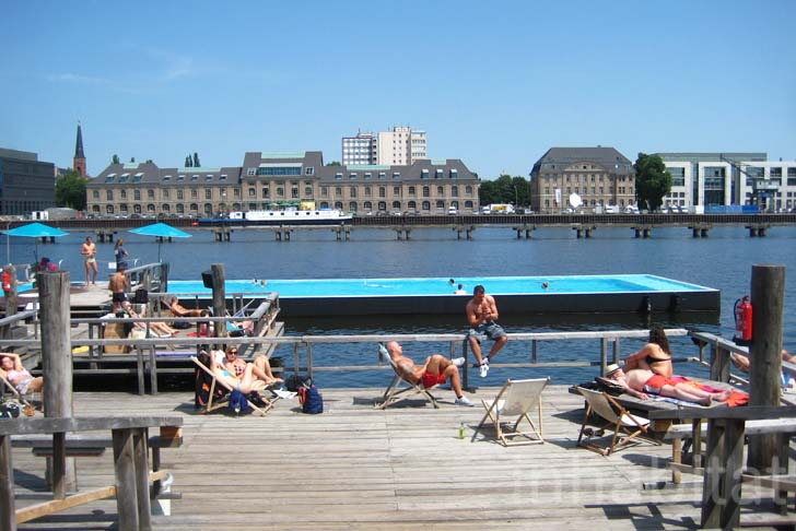 berlin s floating arena badeschiff swimming pool is the city s coolest spot for summer amp and. Black Bedroom Furniture Sets. Home Design Ideas