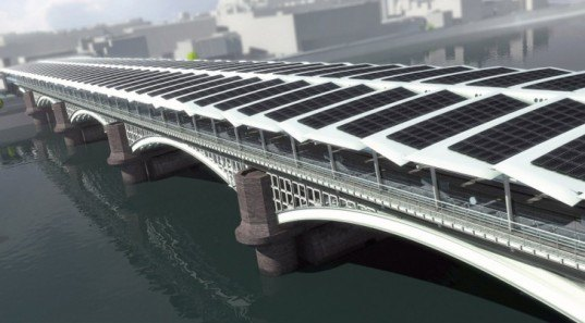 green design, eco design, sustainable design, solar power, world's largest solar bridge, Blackfriars Station, Solarcentury