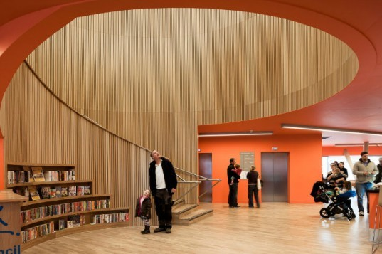 Canada Water Library, CZWG Architects, inverted pyramid, library, eco library, london, green roof
