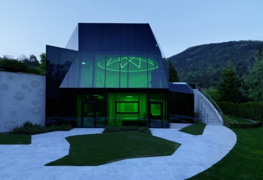 Austrian retreat center, MHM architects, Iselsberg Conference center, Glass facade, daylighting
