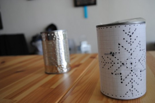how to  recycle a tin can into a gorgeous outdoor lantern