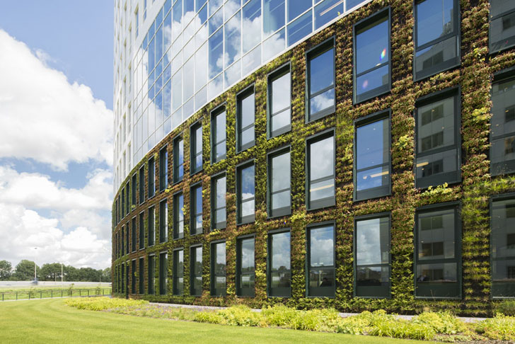sustainable office building. dutch energy company enecou0027s new rotterdam headquarters is a gleaming sustainable office building