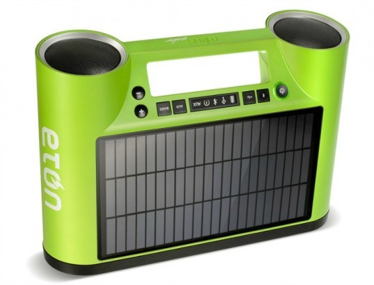 Eton, Rukus Solar, solar panel, sound system, music player, USB output, wireless sound system, portable sound system